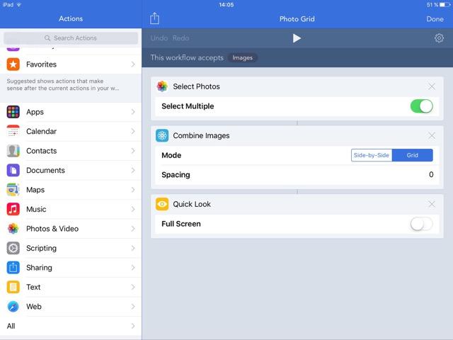 Workflow iOS