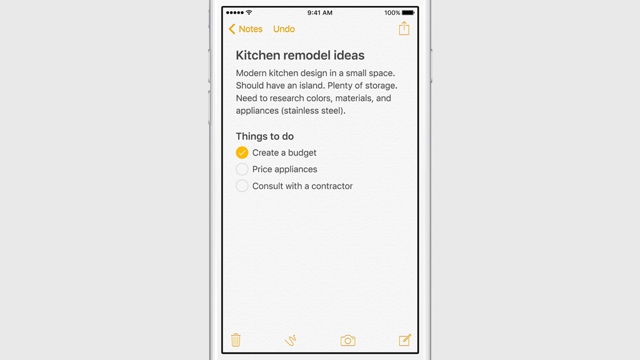 Заметки в iOS 9