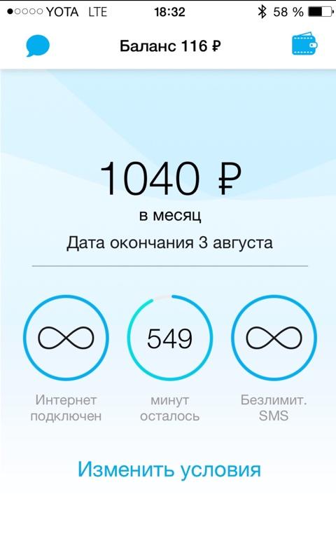 Мобильный оператор для iPhone и iPad — YOTA