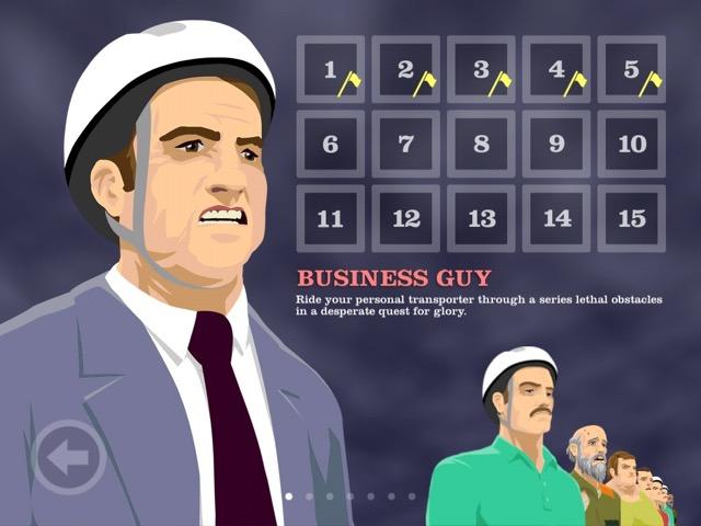 Первый персонаж - это офисный мужик на сегвее