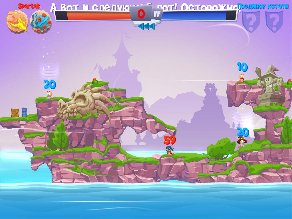 Worms 4 на iPad