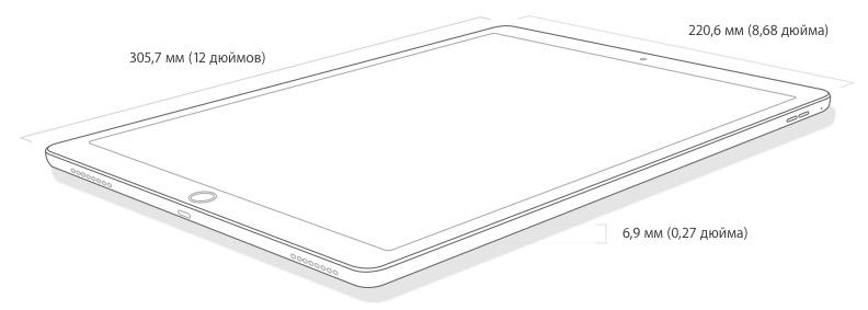 Характеристики iPad Pro - размеры