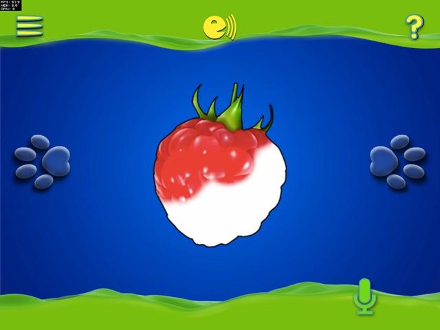 Фишкой приложения стала новая игра «Раскраска». Получаешь удовольствие, наблюдая, как под твоими пальцами появляется аппетитная малинка или клубничка.
