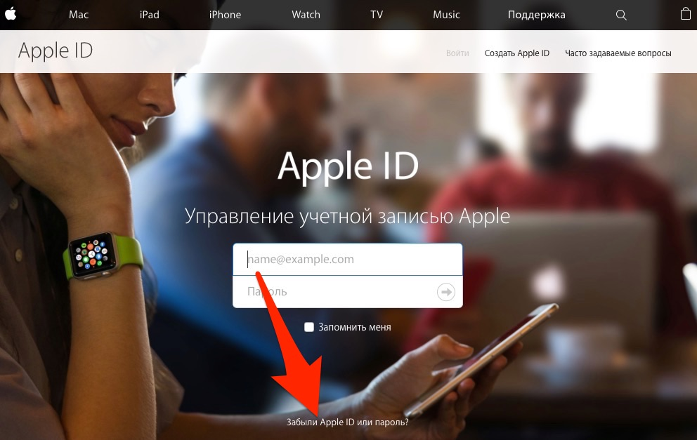 Забыл Apple ID