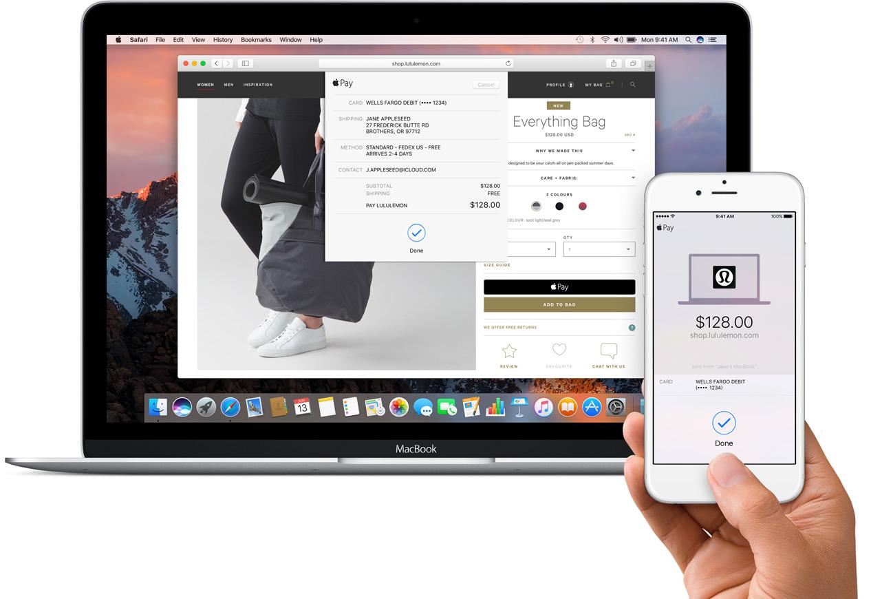 Apple Pay macOS Sierra