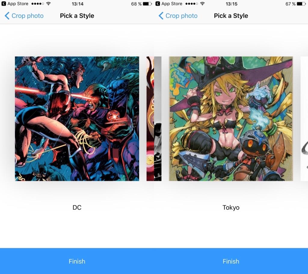 Prisma на iPhone