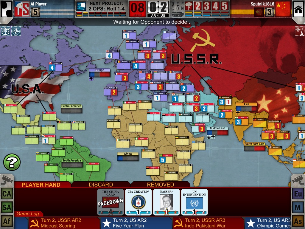 Twilight Struggle iPad