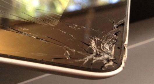 Разбитое стекло iPad