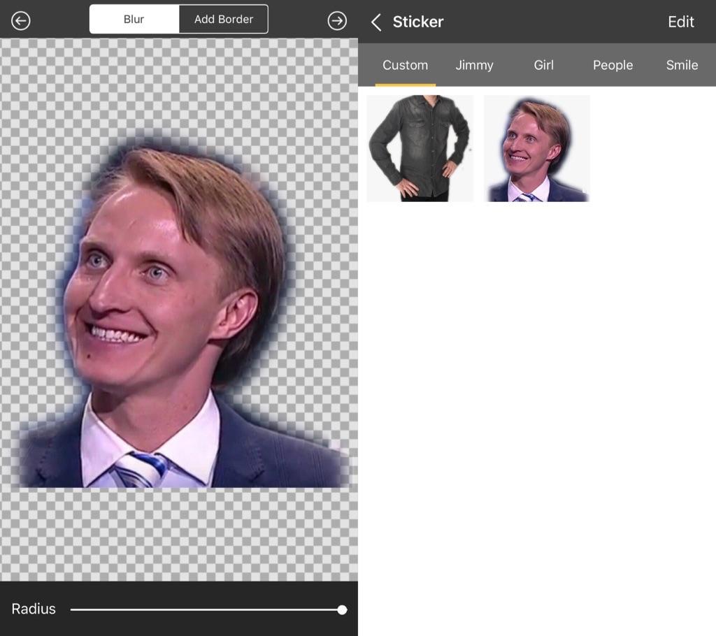 Вырезать фон на фото iOS