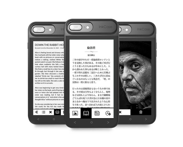 Чехол с e-ink экраном