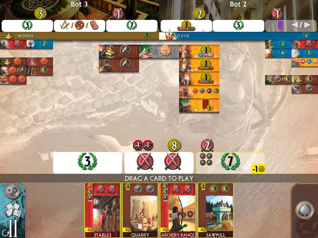 Обзор 7 Wonders на iPad. 7 чудес — порт популярной карточной игры