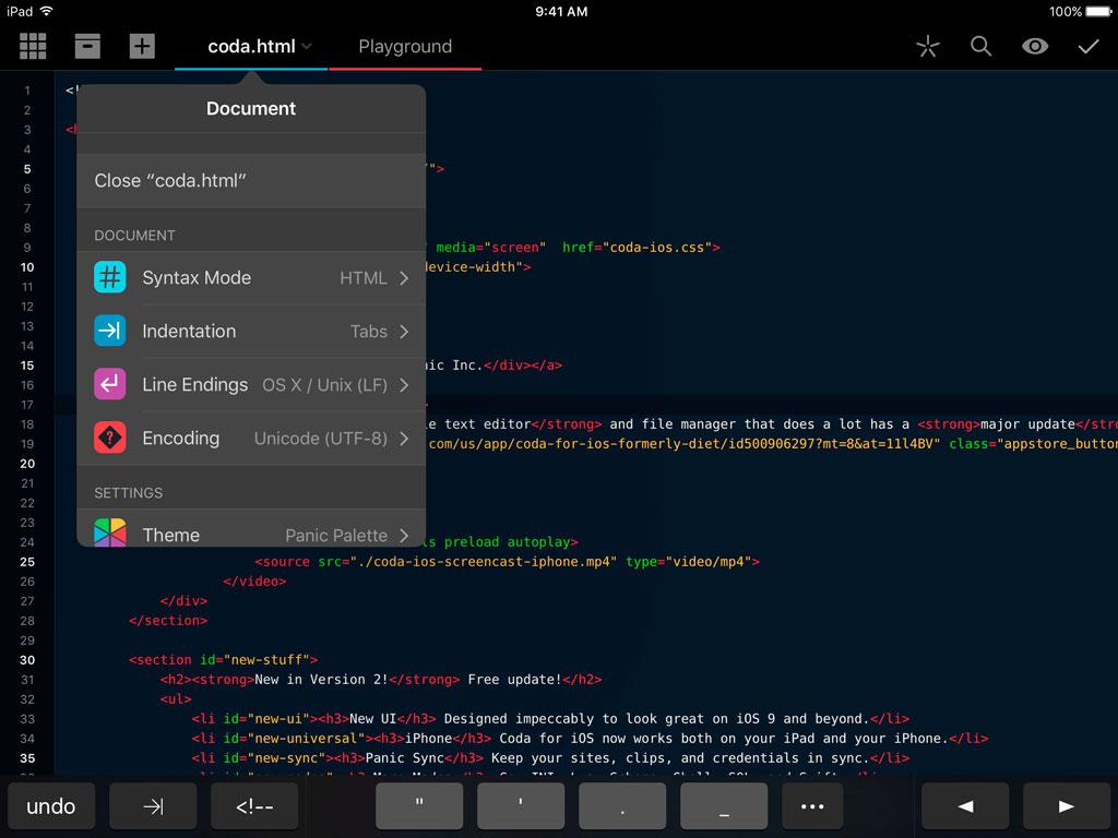 Coda программирование на iOS