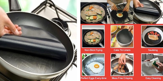 Круглые антипригарные коврики для сковородки/форм для выпечки/микроволновой печи/мультиварки