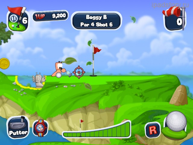 Worms Crazy Golf iPad