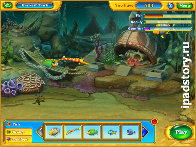 аквариум в Fishdom: Harvest Splash HD