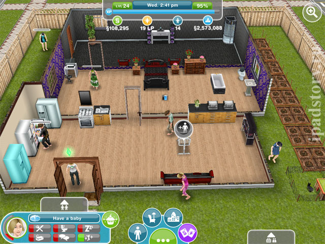 The Sims FreePlay - уставшие симсы