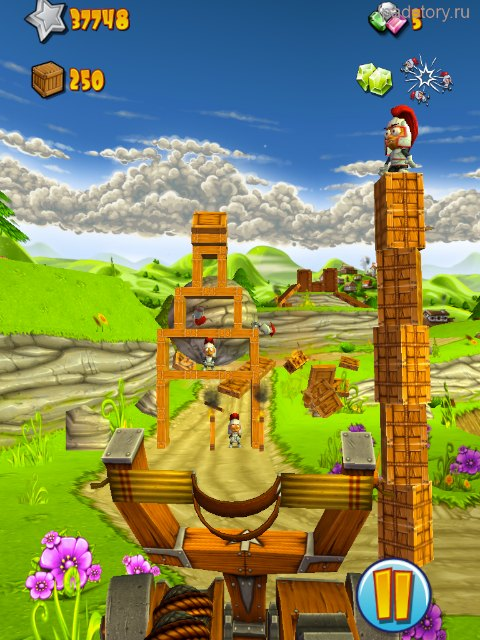 Catapult King на iPad
