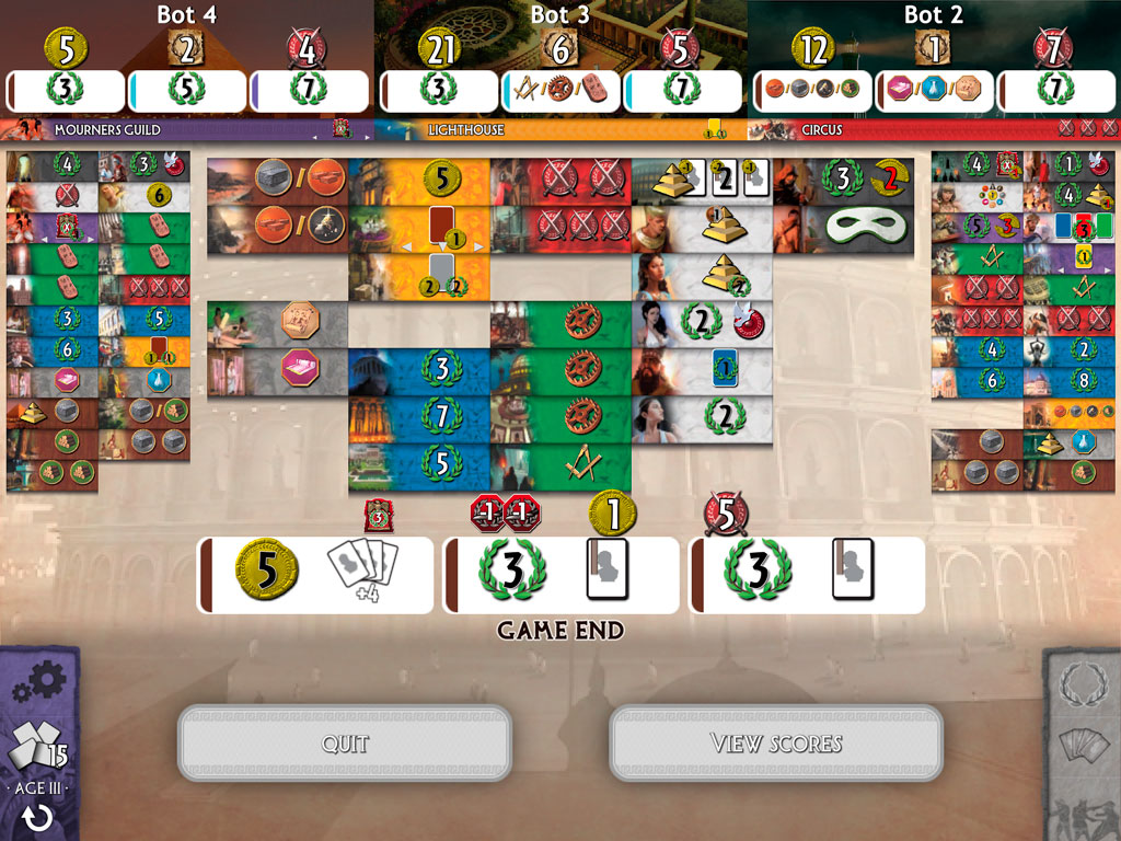 7 Wonders on iPad