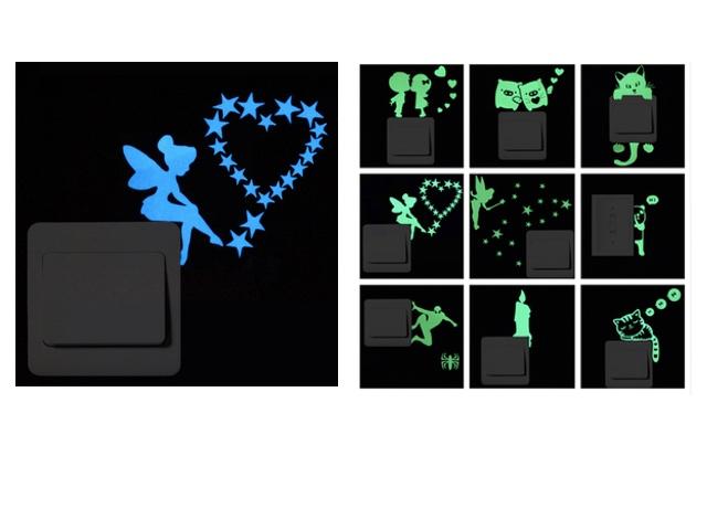 Светящиеся в темноте стикеры для выключателей с Алиэкспресс