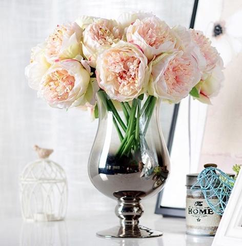 Искусственные цветы - пионы с Алиэкспресс