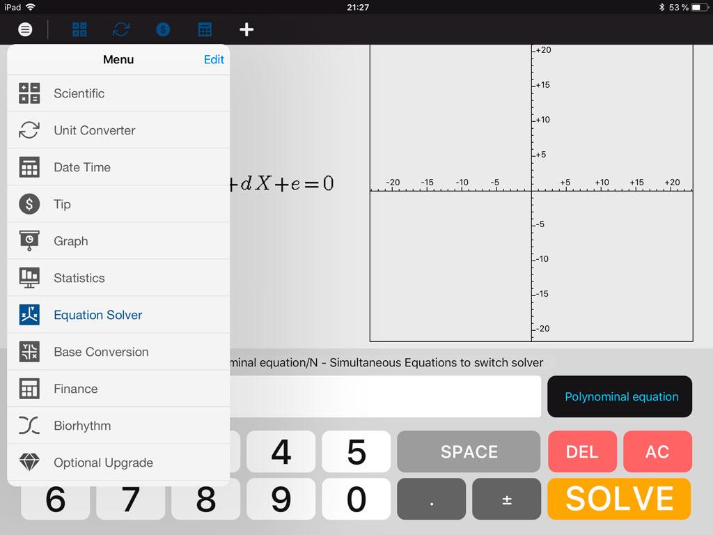 Калькулятор на iPad