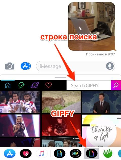 GIF в сообщения