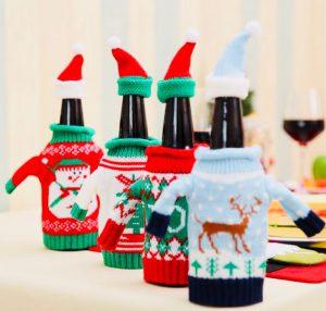 Новогодний декор для бутылки с шампанским с Алиэкспресс